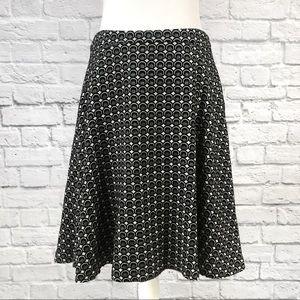 Anthropologie Boden Geometric Wool A-line Skirt
